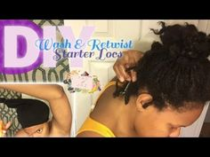 1 Month Update: How To Wash And Re-Twist Starter Locs - YouTube