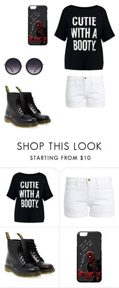 """""""Cute with a booty."""" by elyzabethphoenix on Polyvore featuring Boohoo, Frame, Dr. Martens and Alice + Olivia"""