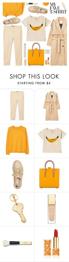 """Dress Up a T-Shirt"" by ewa-naukowicz-wojcik on Polyvore featuring MANGO, Bobo Choses, Opening Ceremony, Christian Louboutin, Bobbi Brown Cosmetics, Tory Burch and MyFaveTshirt"