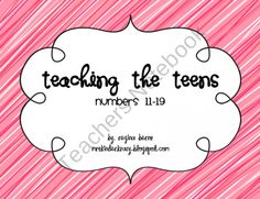 Teaching the Teens - Numbers 11-19 product from Kinder-Krazy on TeachersNotebook.com