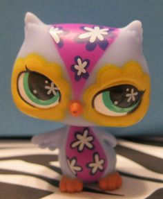 Littlest Pet Shop No # GROOVIEST Owl #Hasbro