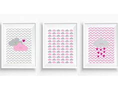 Kit Posters Nuvens Baby c Chevron