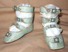 Great Keystone Blue 3 Strap Doll Shoes