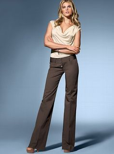 The Rosie Wide-Leg Pant and Off-The-Shoulder Top ~ Victoria Secret.