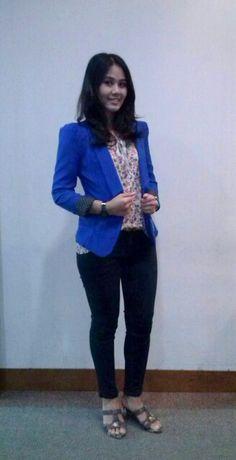 Me in blue blazers