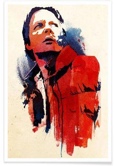 Marty McFly als Premium Poster door Róbert Farkas | JUNIQE