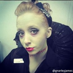 Simple Frankenstein Pin-up #facepaint #bodyart #makeupbymarley