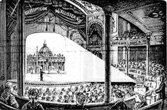 Magic Lantern Slide Lecture on St. Peter's Basilica, 1897  An illustration from the December 1897 catalogue of T. H. McAllister Company, Manufacturing Opticians, New York