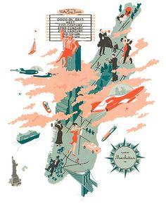 Illustrators and Visual Storytellers Map the World | Brain Pickings