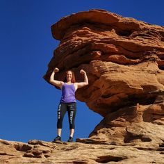 Flexing on mountains is way more fun than in the gym!  #suckitupfitness #flexfriday #arches