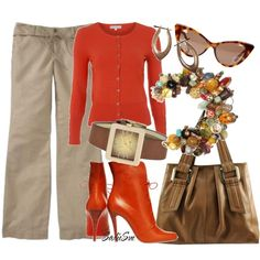 A fashion look featuring Red Herring cardigans, Old Navy pants and Christian Louboutin ankle booties. Browse and shop related looks.