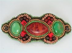 Southwest Delight Bead Embroidery Hair Barrette by 4uidzne on Etsy, $50.00