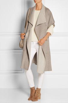 Tibi Reversible wool and angora-blend coat NET-A-PORTER.COM