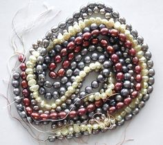 5 Strand Lot Of Freshwater Pearls All Different Colors All Different Shape http://stores.ebay.com/Erthart-Beads-and-Pearls