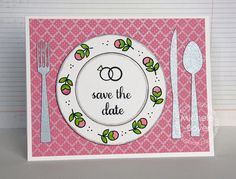 Card by PS DT Michele Boyer using PS Flatware 2 dies, Best Buds, Shindig Two