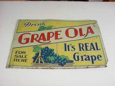 Grape Ola Soda Sign