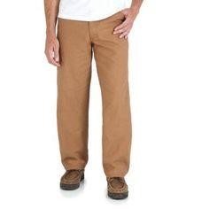 Rustler Men's Canvas Carpenter Jean, Size: 32 x 30, Brown