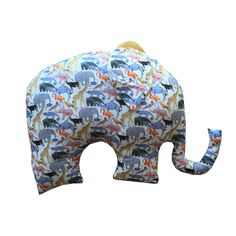 Liberty Print Elephant Scatter Cushion   Queue for the Zoo Yellow