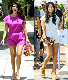 Kourtney loves her Blaque Label romper so much, she bought it in two colors! Check out where you can buy the chic onesie.