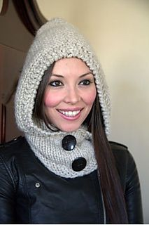 F631 Hooded Cowl by Plymouth Yarn Design Studio - free