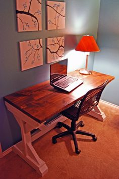 X Desk | Do It Yourself Home Projects from Ana White