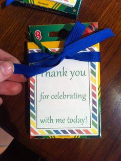 First birthday. Party favors. Coloring pages and Crayola crayons. Rainbow/primary color birthday party.