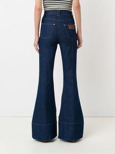 Trousers, Pants, Fashion Outfits, Womens Fashion, Flare Jeans, Bell Bottom Jeans, Ideias Fashion, Women Wear, Denim