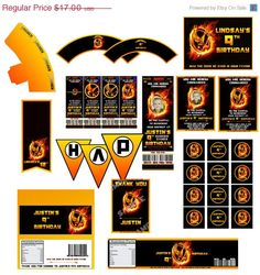 ON SALE The Hunger Games Birthday party full pack. $13.60, via Etsy.