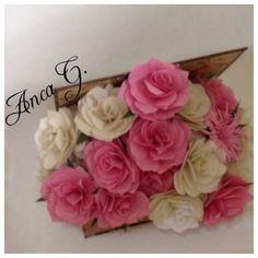 Cutiuțe minunate cu flori din hartie !!!