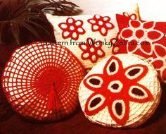 Vintage Crochet Pattern 249 PDF Cushions from by wonkyzebra, $3.00