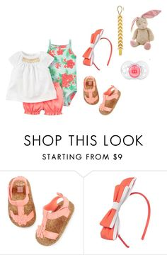 """""""Sin título #3057"""" by alejaborrayo ❤ liked on Polyvore featuring Carter's, Baby, girl, fourth and months"""