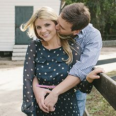 A sweet Southern engagement session at Boone Hall Plantation captured by Paige Winn Photo.
