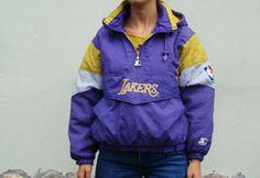 Vintage 90's Lakers Starter  Basketball Jacket by kickassvintage, $21.00 /// www.art-by-ken.com