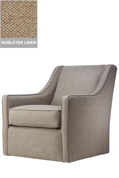 Custom Khloe Upholstered Swivel Chair - Glider - Living Room Chairs - Glider Chair | HomeDecorators  sc 1 st  Pinterest & the final choice! in a denim blue and ivory print...so nice for the ...