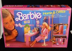 Mattel 1984 Barbie Home & Office in Original Box RARE #Mattel