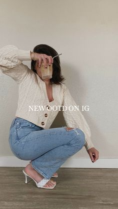 High Waist Jeans, Korean Actors, Acrylic Nails, Florals, Fashion Inspiration, Ootd, Adidas, Stitch, Spring