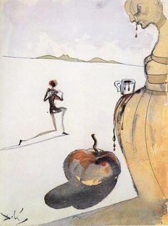 """""""Schokolade"""", 1930 von Salvador Dali (1904-1989, Spain)"""