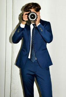 terno azul para noivos casamento