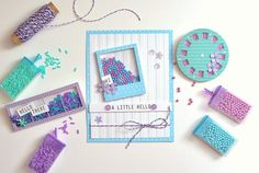 A Little Hello featuring Queen and Company's Say Cheese Shaker Shape Kit - Scrapbook.com