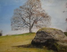 Sligo based artist - Every object deserves its portrait. Dogs, cats, Trees and stone all have their moment depending on the day, light and time. Spring Tree, Irish Art, Ireland, Decorating Ideas, In This Moment, Artists, Stone, Portrait, Painting