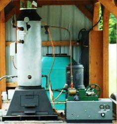 Wood-Burning Steam-Powered Generator | STEAM ENGINE/GENERATOR/HEATING SYSTEM