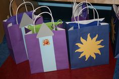 Rapunzel party favor bags