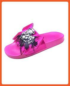 1e6a31494e418 Zara Women Pool slides with bow 5603 201 (40 EU