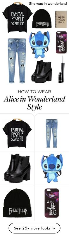 """My First Polyvore Outfit"" by rose-magenta on Polyvore featuring Disney and MAC Cosmetics"