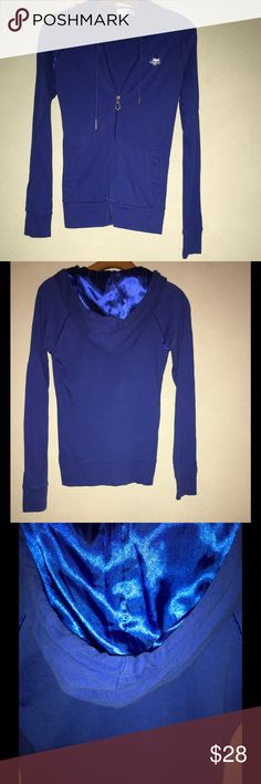 Fox Riding Co. Satin Lined Hoodie Worn once. No matter how much I want it to be, blue is not my color. Fox Tops Sweatshirts & Hoodies