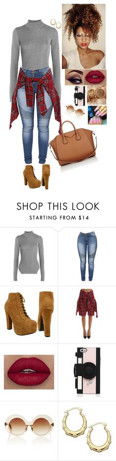 """""""Untitled #812"""" by medinea ❤ liked on Polyvore featuring Thierry Mugler, R13, Kate Spade, Linda Farrow and Givenchy"""