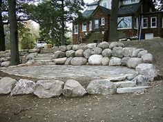 17 Large Boulder Retaining Wall-Superior Scape Landscaping Shelby Township MI