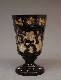 Bohemian Glass Goblet   c.19th Century