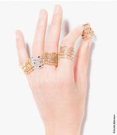 Bague Dentelle - AURELIE BIDERMANN NOW at London Jewelers in Manhasset, New York High Jewelry, Boho Jewelry, Jewelry Design, Designer Jewelry, Aurelie Bidermann, Contemporary Jewellery Designers, Delicate Jewelry, Or Rose, Creations