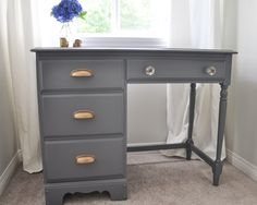 Desk Makeover - Grey
